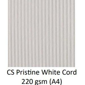 CS Pristine White Cord 220 gsm kolory
